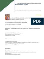 Curso Básico de Doctrina Jerarquía de La Iglesia Comunión y Perdón