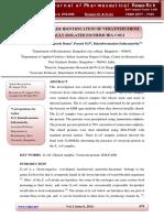 Protein Marker Identification of Veratoxin From Clinically Isolated Escherichia Coli