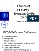 Session 1 & 2 IPEC PQG Excipients GMPs Guide Launch v4 Steve Moss & Kevin McGlue