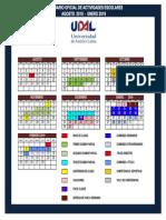 Calendario Escolar Udal Agosto 2018 Enero 2019