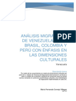 Análisis Migratorio de Venezuela TESINA
