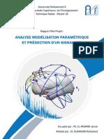 Analyse modélisation paramétrique et Prédiction d'un signal EEG