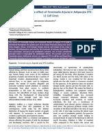 Invitro Studies on the Effect of Invitro Studies on the Effect of Terminalia Arjuna in Adipocyte 3T3 - L1 Cell Lines