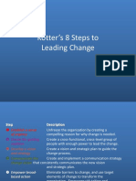 Kotter's 8 Steps to Leading Change