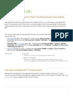Automatic NAT Traversal for IPsec Tunneling Between Cisco Meraki Peers