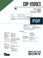 sonyCDP-X505