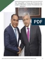 01-12-2018 Asiste Gobernador Astudillo a Toma de Protesta de Andrés Manuel López Obrador como Presidente de México.