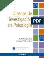 Diseños de Investigación en Psicología - Manuel Ato GarcÍa