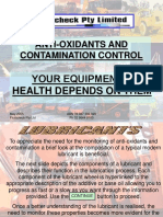Anti-Oxidants & Contamination Contro