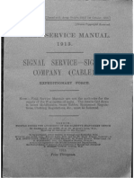 Field Service Manual, 1913. Signal Service - Signal Company (Cable)