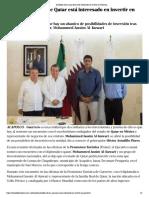 07-12-2018 Astudillo afirma que Qatar está interesado en invertir en Guerrero.