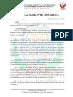 Resolución 01 de Alcaldía Designación de Gerente Municipal