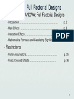 ANOVA Full Factorial Design