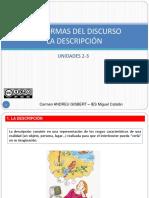 Temas 2 3 Las Formas Del Discurso La Descripcic3b3n 2016 2017