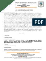 4.- Exepcion a La Licitacion Publica