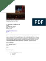 Teatro Del Pueblo Alí Chumacero Ficha 2018