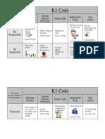 pbis classroom behavior chart