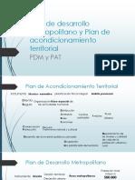 Plan de Desarrollo Metropolitano y Plan de Acondicionamiento