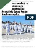 10-12-2018 Astudillo Flores acudió a la ceremonia de entrega-recepción del Mando de Armas de la Octava Región Naval en Acapulco.