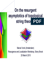 On the Resurgent Asymptotics of Topological String Theories