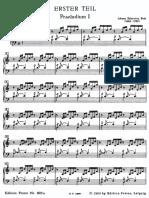 BACH Das Wohltemperierte Klavier Prelude 1