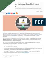 Como Encontrar y Ver Puertos Abiertos en Sistemas Linux