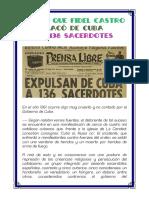 El Dia Que Fidel Castro Sacó a 136 Sacerdotes de Cuba