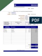 Auto Repair Invoice.xls