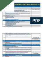 Calendario Académico 2019 - UCB - Cochabamba