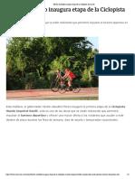 23-12-2018 Héctor Astudillo inaugura etapa de la Ciclopista Diamante.