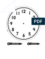 Time Face Template Printable