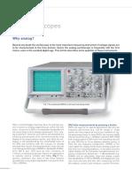 HAMEG FA Oscilloscopes Why Analog E