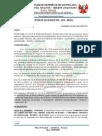 RESOLUCION DE ALCALDIA N° 062 RECONOCIMIENTO DE TRABAJADOR CARLOS REYNA