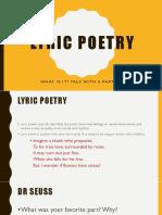 Lyric Poetry