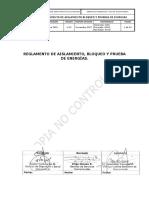 Reglamento Aislamiento Bloqueo y Pruebas Energías