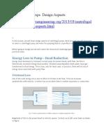 Key Design Aspects of Centrifugal Pumps
