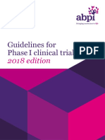 Guidelines for Phase i Clinical Trials 2018 Edition 20180626