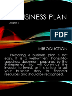 Business Plan Chap 6