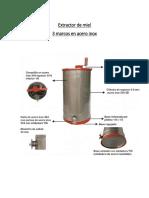Extractor de Miel Especificaciones Técnicas