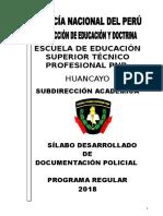 Silabus de Documentación Policial