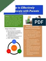 parent collaboration brochure