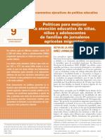 INEE-MX 2018 Doc política educativa 9 Agricolas Migrantes