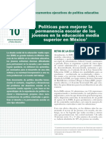 INEE-MX 2018 Doc política educativa 10 Permanencia Escolar