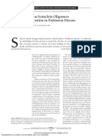 Central Role of Α-Synuclein Oligomers in Neurodegeneration in Parkinson Disease