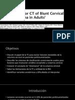 Trauma Cervical Cerrado Por TC