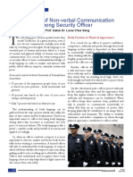 The needs of Non-verbal Communication among Security Officer
