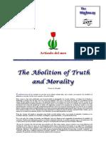 _La Abolición de La Verdad y La Moralidad_ Por Francis a. Schaeffer