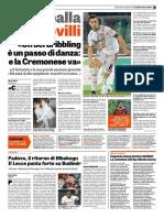La Gazzetta Dello Sport 09-01-2019 - Intervista a Castrovilli
