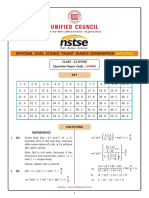 NSTSE Class 12 PCM Solutions Paper 444 Buffer 2018 Updated