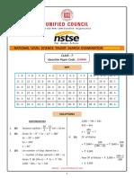 NSTSE Class 07 Solutions Paper 444 Buffer 2018 Updated